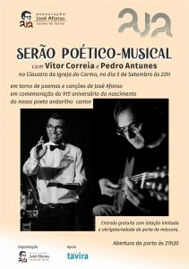 SERÃO POÉTICO MUSICAL COM VÍTOR CORREIA E PEDRO ANTUNES